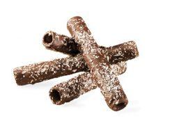Flautins Cacao con topping de Coco destacada